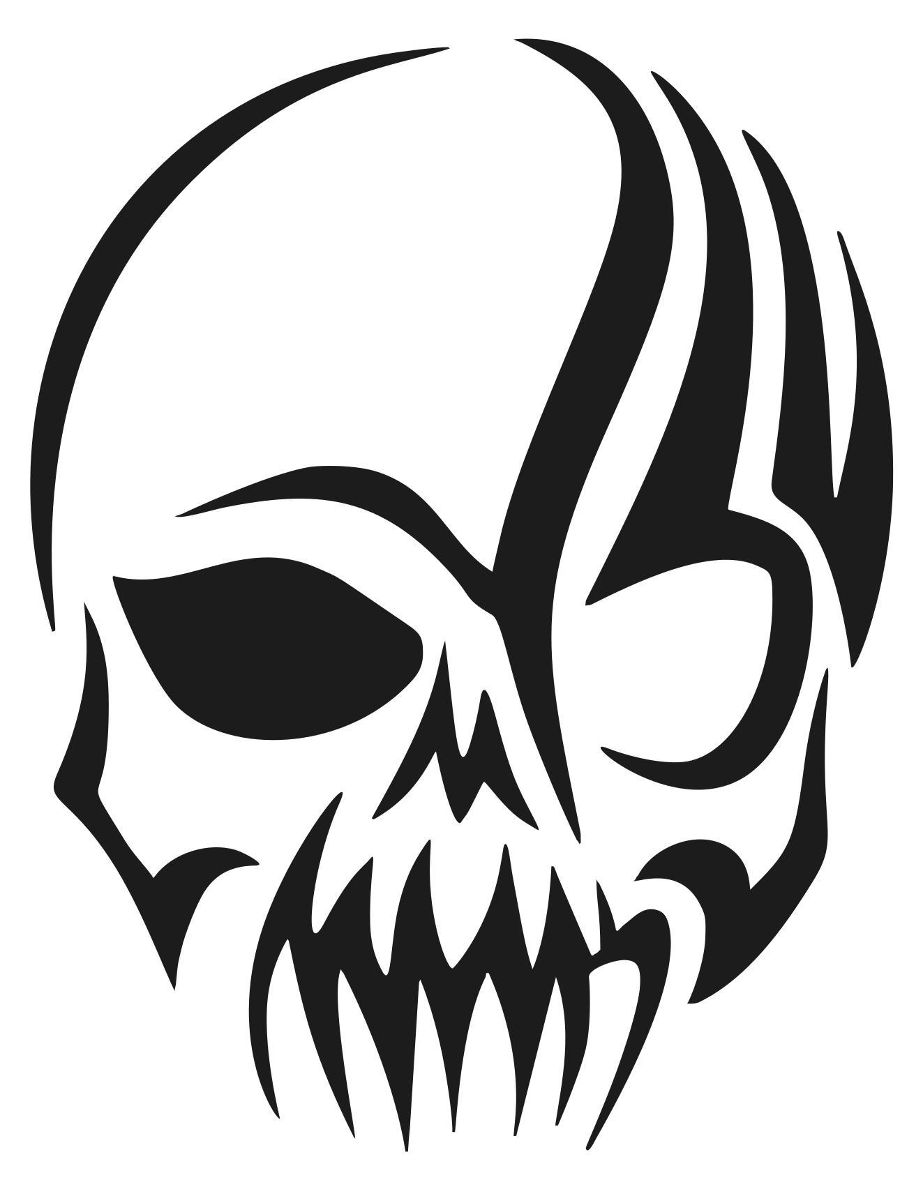 1323x1705 Tribal Skull Silhouette Clipart