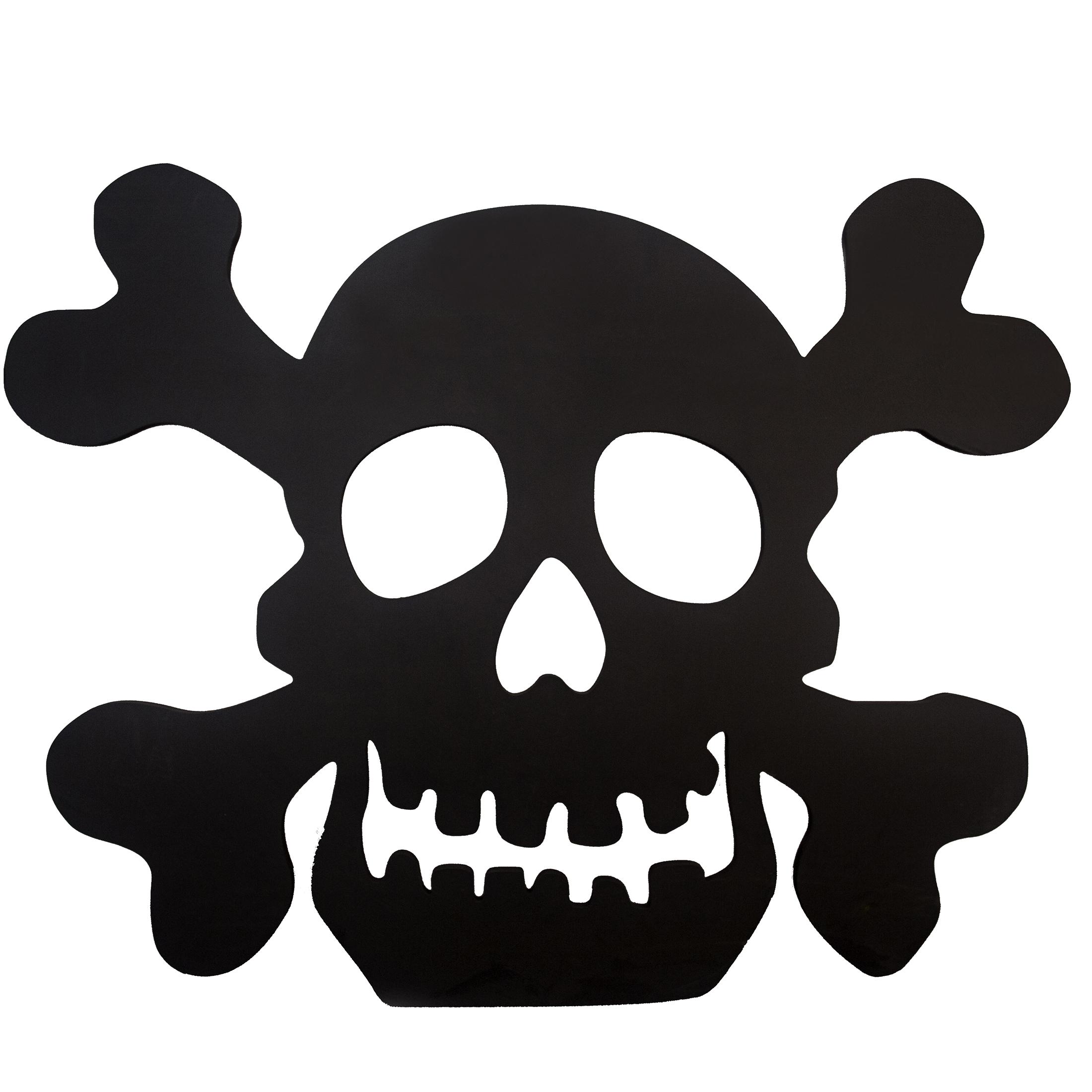 2200x2200 Black Skull Silhouette 23.6x30.3 Lawn Decoration
