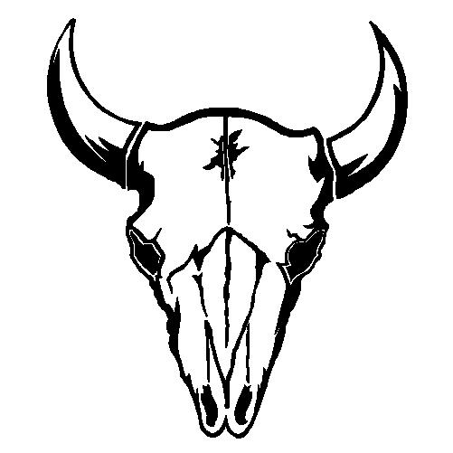 501x501 Bull Clipart Longhorn Skull