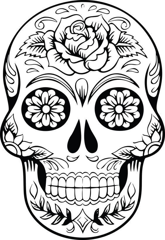 564x816 Free Clipart Of A Sugar Skull Silhouette Sugar