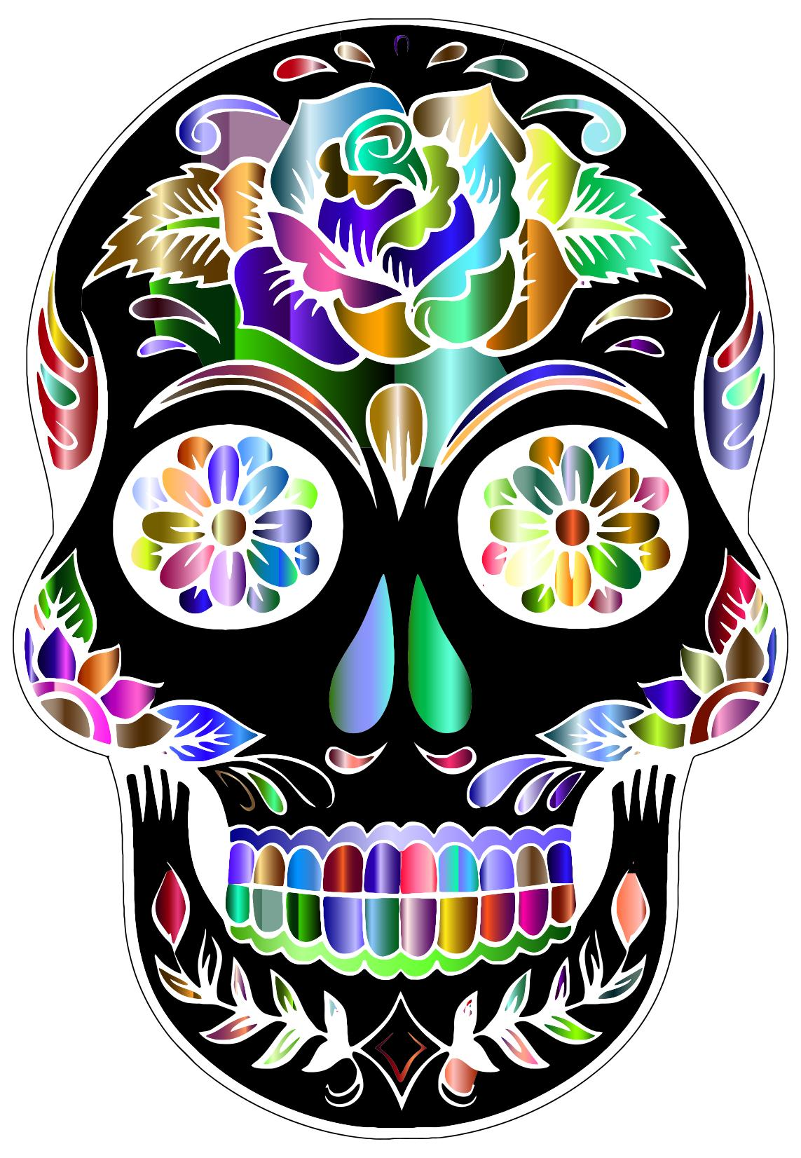 1143x1652 Prismatic Sugar Skull Silhouette By Karen Arnold 2 Clipart