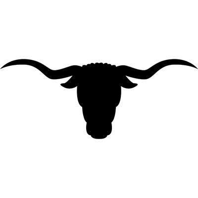 400x400 Bulls Clipart Longhorn Skull