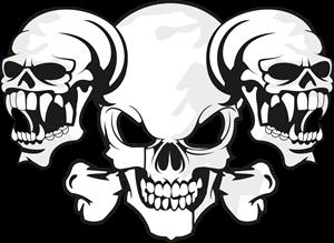 300x219 Skull 3 Logo Vector (.cdr) Free Download