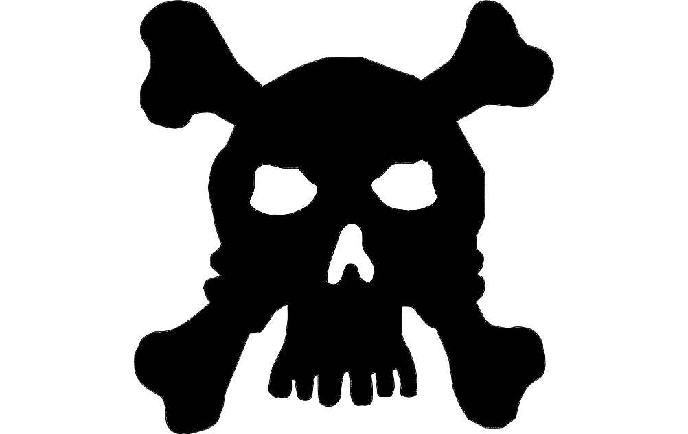 1002x633 Skull Silhouette Vector Dxf File Free Download