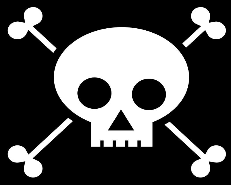 800x640 Skull And Crossbones Free Vector 4vector