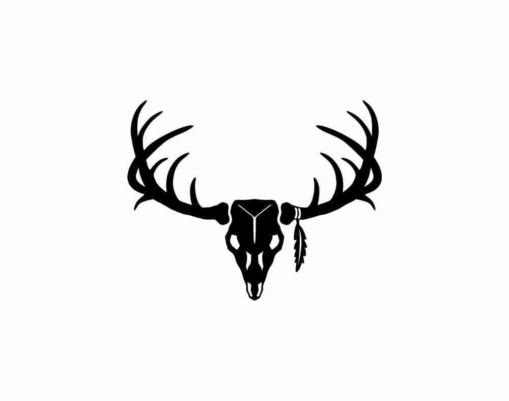 skull silhouette vector at getdrawings com free for personal use rh getdrawings com deer skull clip art graphics deer head skull clipart