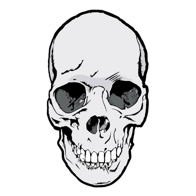 660x660 Bloody Skull Vector Clip Art