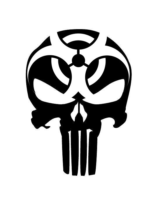 542x700 Punisher Biohazard Skull Patterns