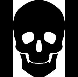 263x262 Skull Silhouette Template Skull Silhouette