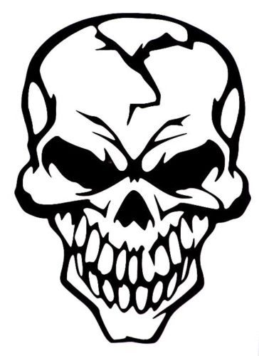 364x500 Evil Skull Of Death Car Truck Window Vinyl Decal Sticker 10 Colors