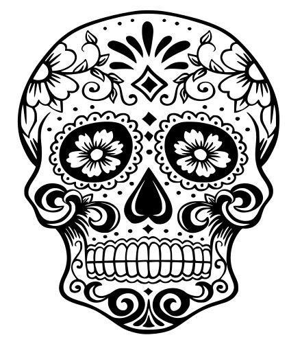 441x501 Sugar Skull Svg File, Quote Cut File, Silhouette File, Cricut File