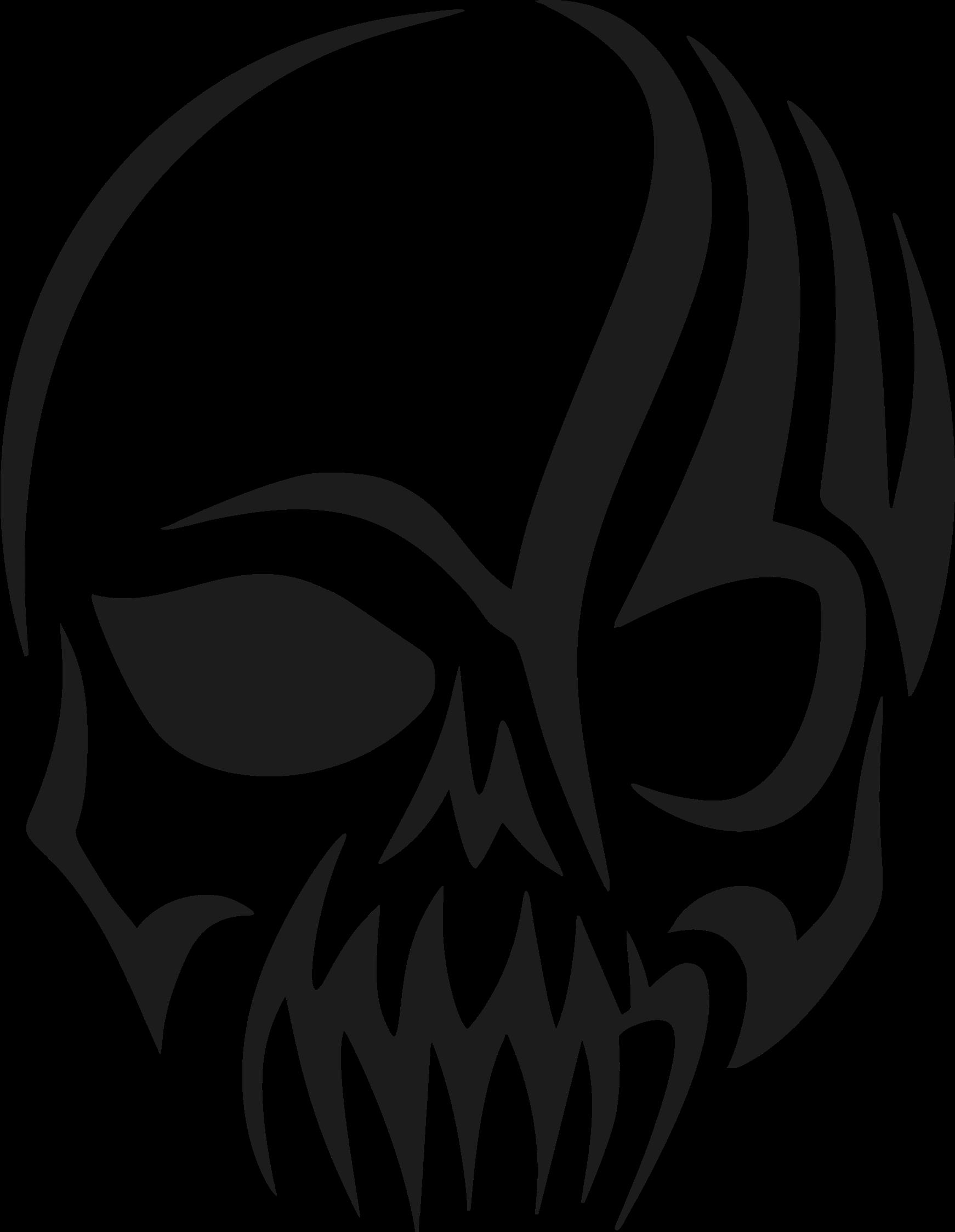 1742x2247 Tribal Skull Silhouette By @gdj, Tribal Skull Silhouette