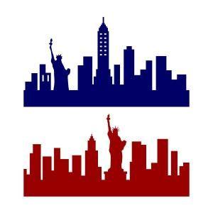 300x300 New York City Ny Skyline Svg Cuttable Design Cricut