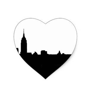 307x307 New York Skyline Black And White Stickers Zazzle