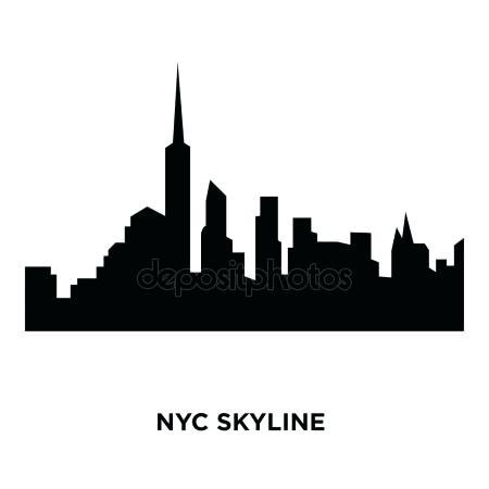 450x450 Nyc Skyline Silhouette New City Skyline Silhouette New York City
