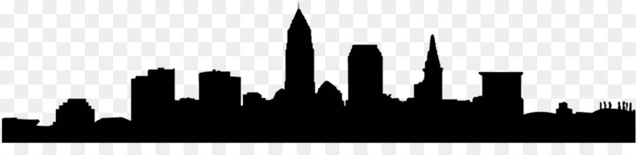 900x220 Cleveland Skyline Silhouette Coloring Page 2019