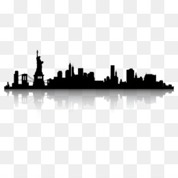 260x260 New York City Skyline Silhouette Clip Art
