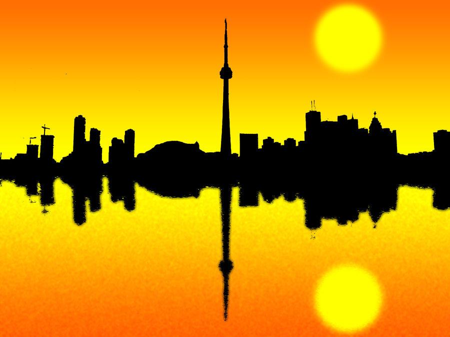 900x675 Toronto Skyline Silhouette By Ranjanunited