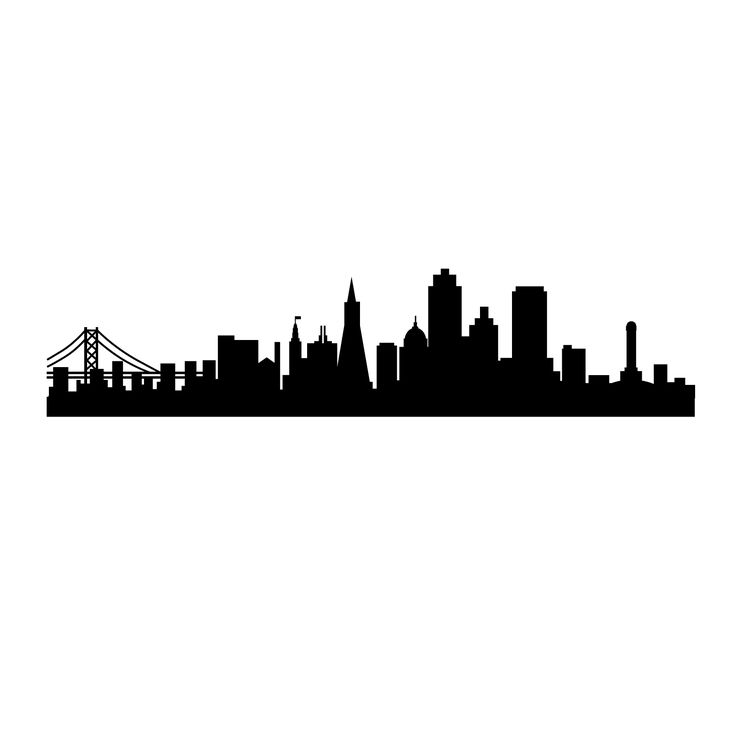736x736 Francisco Skyline Silhouette Clipart
