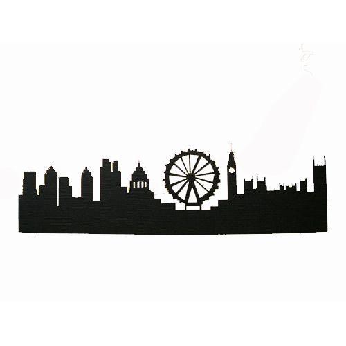 500x500 Melbourne Skyline Silhouette