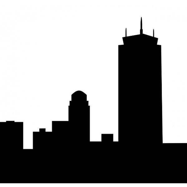 600x600 Boston Skyline Silhouette Clipart