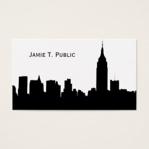 307x307 New York City Skyline Silhouette Business Cards Amp Templates Zazzle