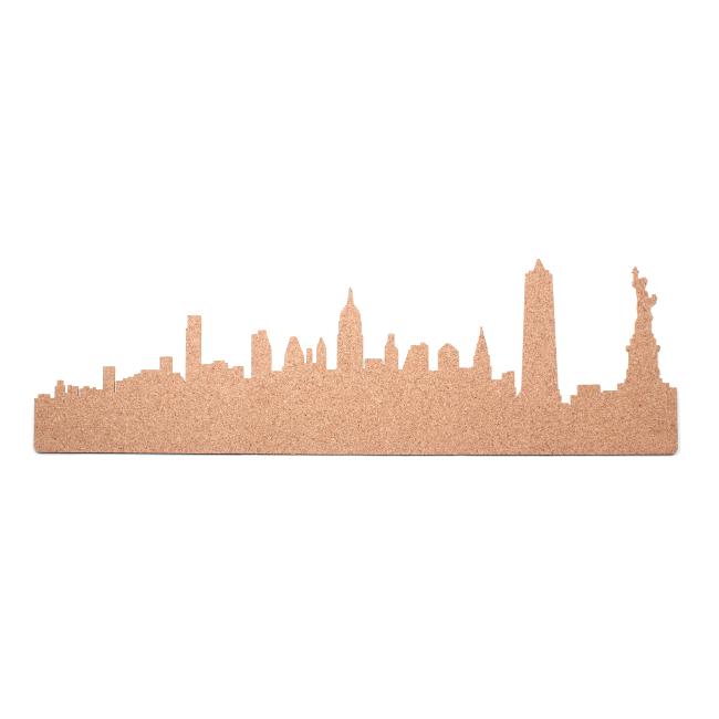 650x650 New York City Skyline Cork Pin Board The Dotty House