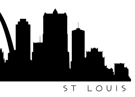 570x408 St Louis Skyline Silhouette Printable Skyline St Louis