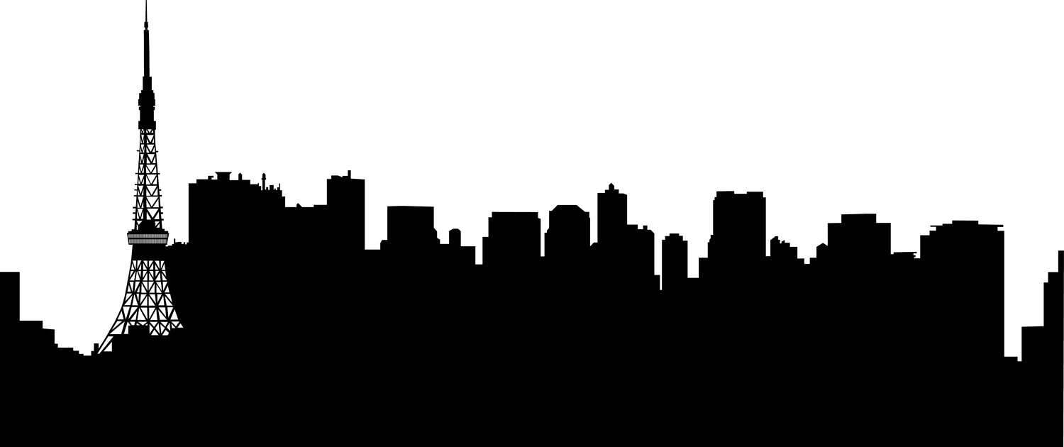 1500x630 City Skyline Tokyo Svg Clipart, International City Digital Cutting
