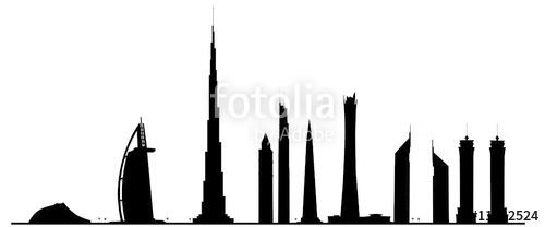 500x208 Dubai Skyline Stock Image And Royalty Free Vector Files