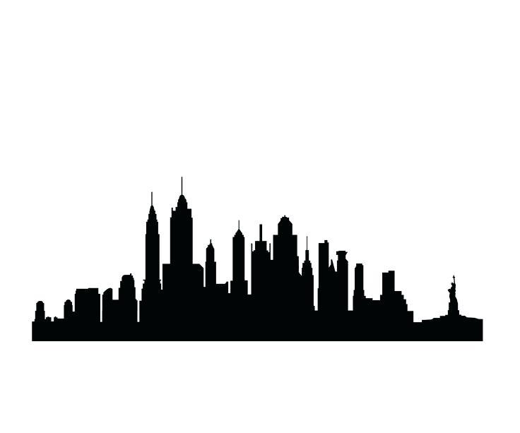 736x613 New York Skyline Outline With La New Skyline Silhouette New York