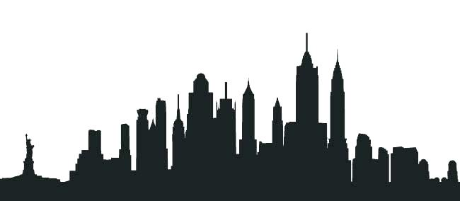 650x284 Nyc Skyline Silhouette New City Skyline Detailed Silhouette Vector