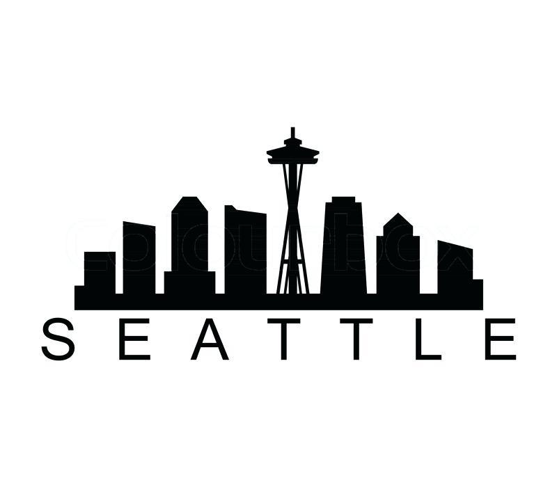 800x700 Seattle Skyline Silhouette Seattle Skyline Silhouette Vector Free