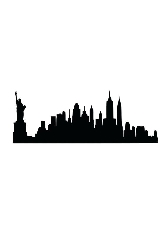 570x806 New York Skyline Silhouette Also Vector Part Of The New Skyline