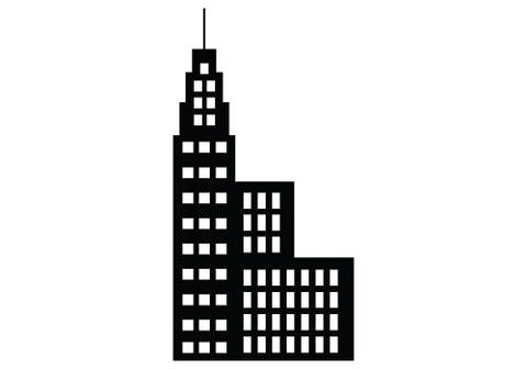 480x336 Free Building Silhouette Vector Clipart Silhouettes Vector