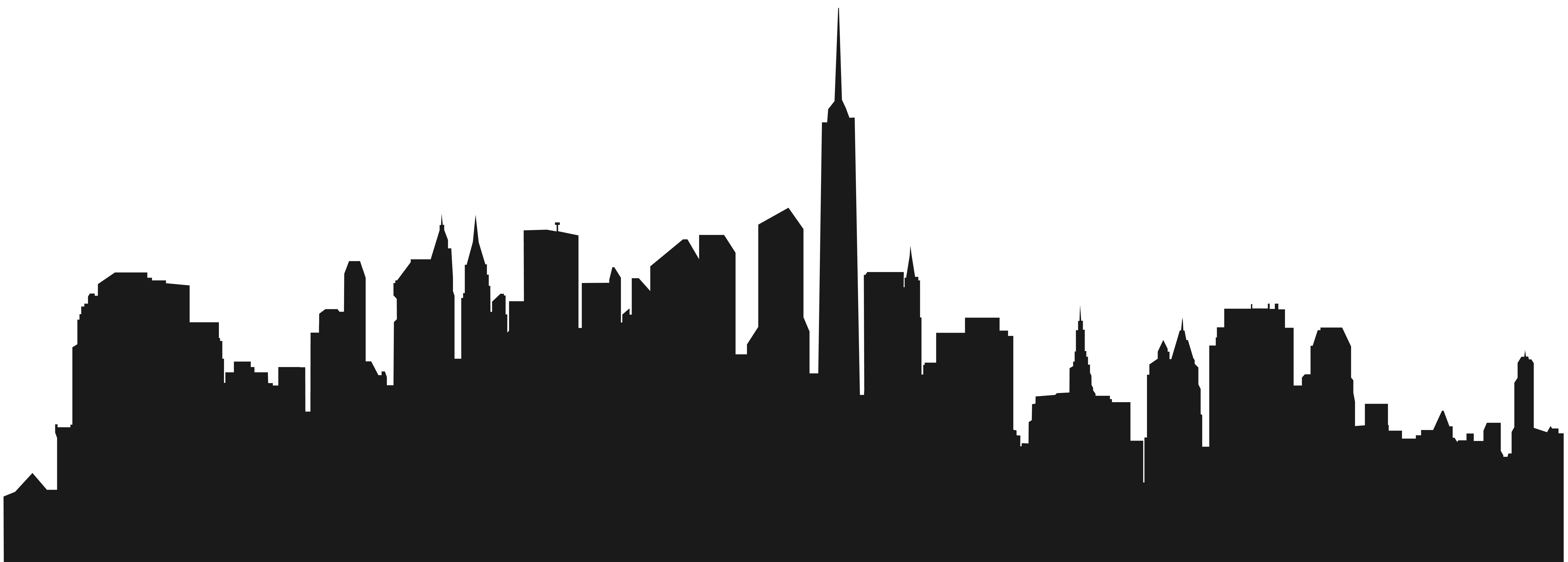 8000x2870 City Buildings Silhouette Png Clip Artu200b Gallery Yopriceville