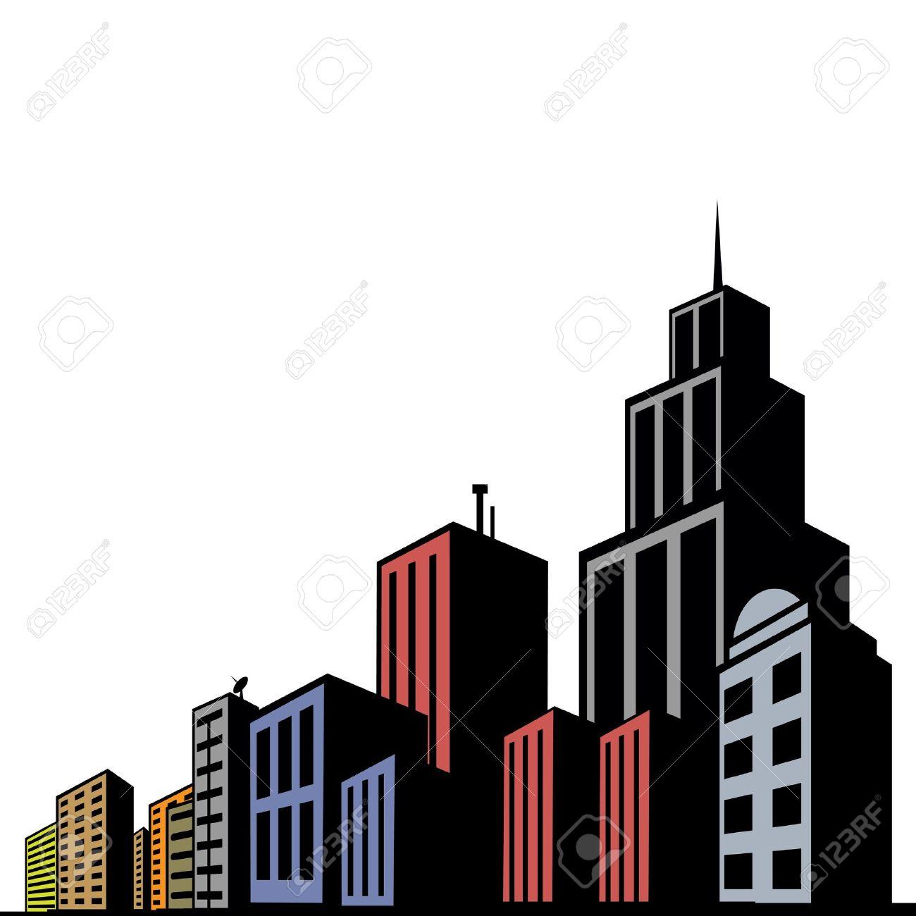 1300x1300 Skyscraper Clipart Modern City'14240