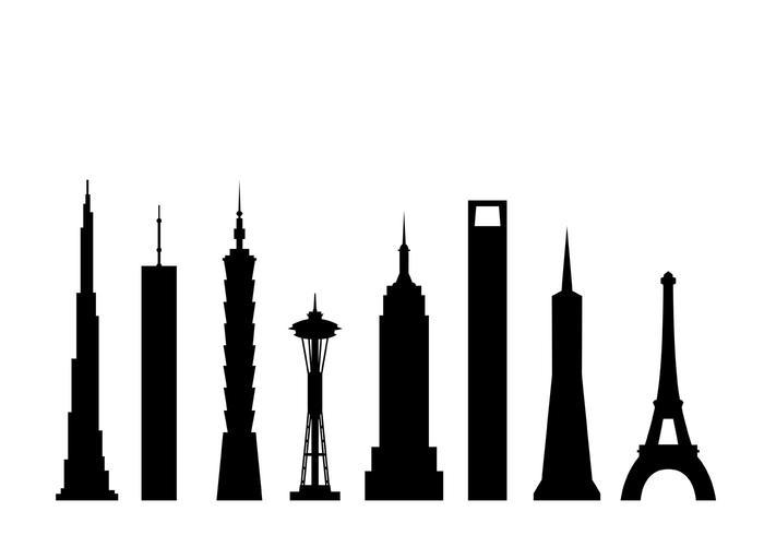 700x490 Skyscrapers Vectors