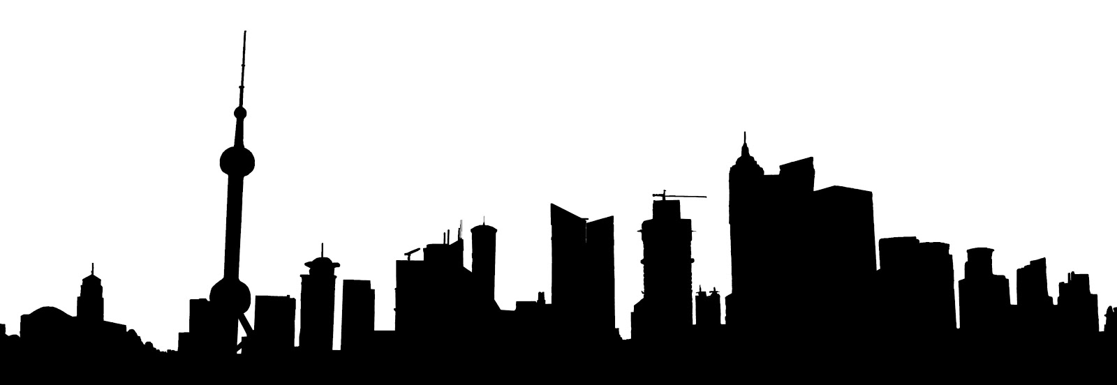 1600x552 Stock Pictures Shanghai Skyscraper Sketches And Silhouette