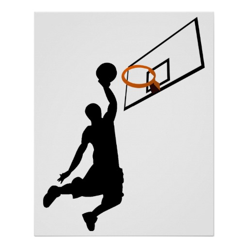 512x512 Silhouette Slam Dunk Basketball Player Poster Slam Dunk, Room