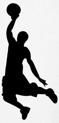 190x394 Slam Dunk Basketball Player Silhouette By Azza1070 Spreadshirt