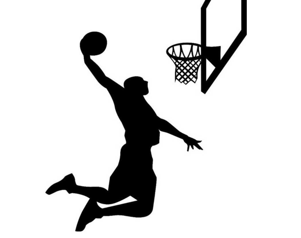 1049x831 Sports Silhouette Wall Decals Basket Ball Stonerockery