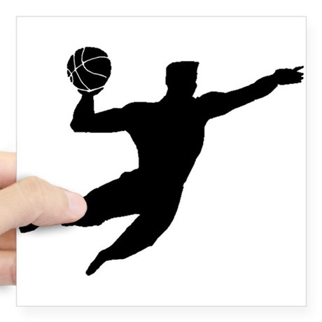 460x460 Basketball Dunk Silhouette Stickers