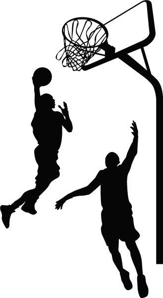 329x600 Basketball Player Silhouette Wall Decal Vinyl Wall Art 48 X 30