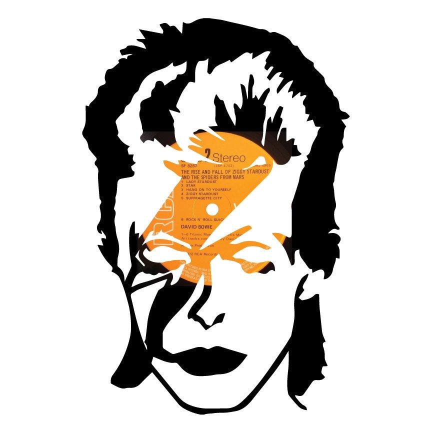864x864 David Bowie Ziggy Stardust Silhouette Vinyl Recordrt. On