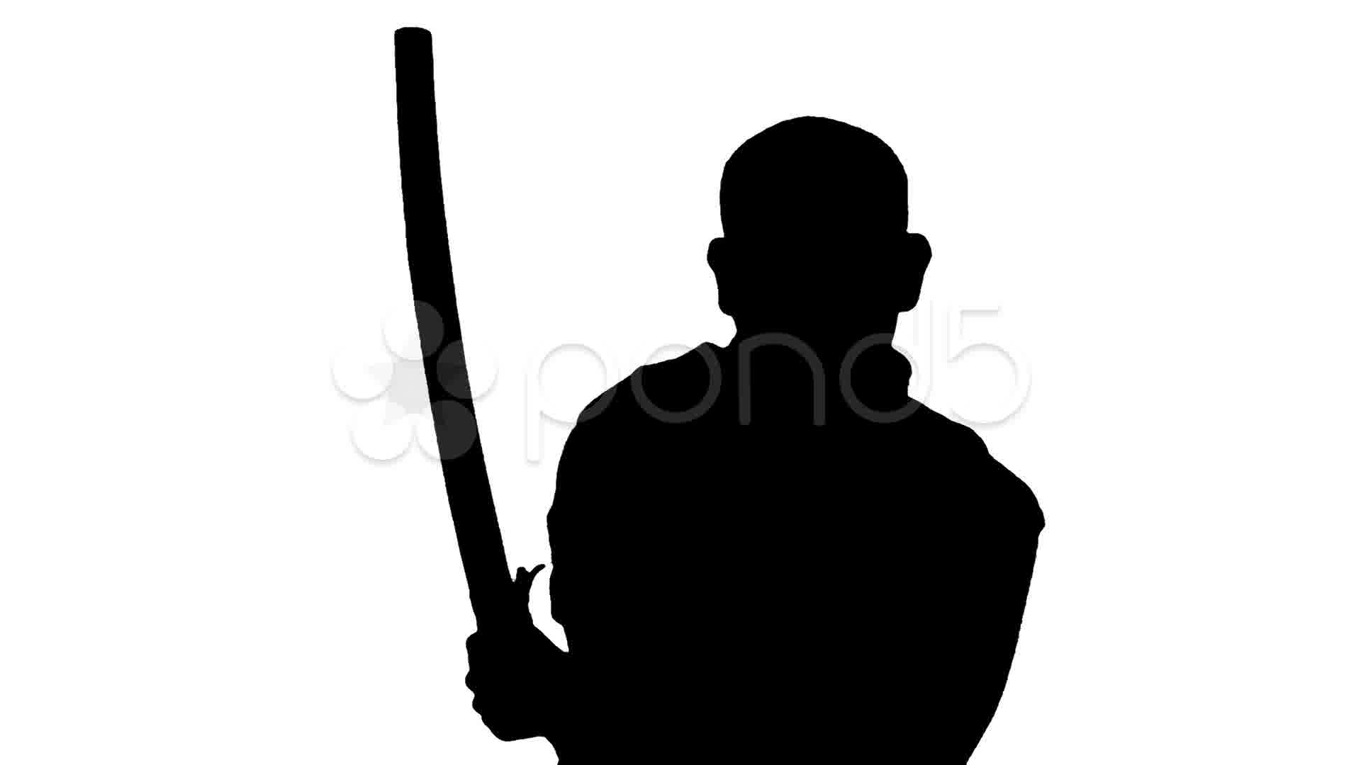 1920x1080 Medium Sword Draw And Double Slashes Silhouette White Background
