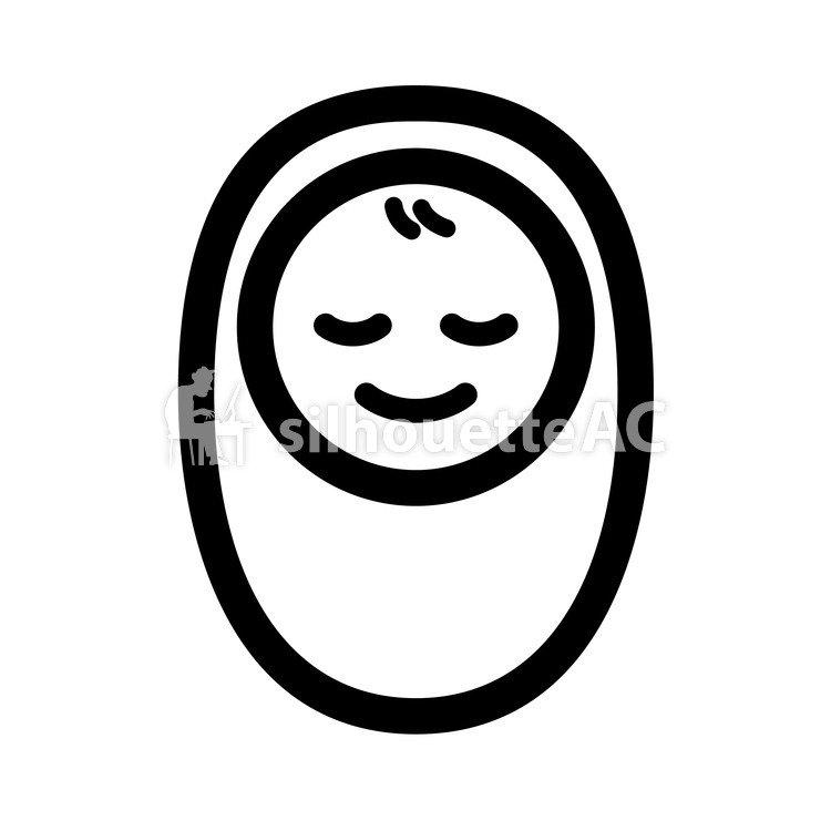 750x750 Free Silhouette Vector Baby, Walnut, Tiny