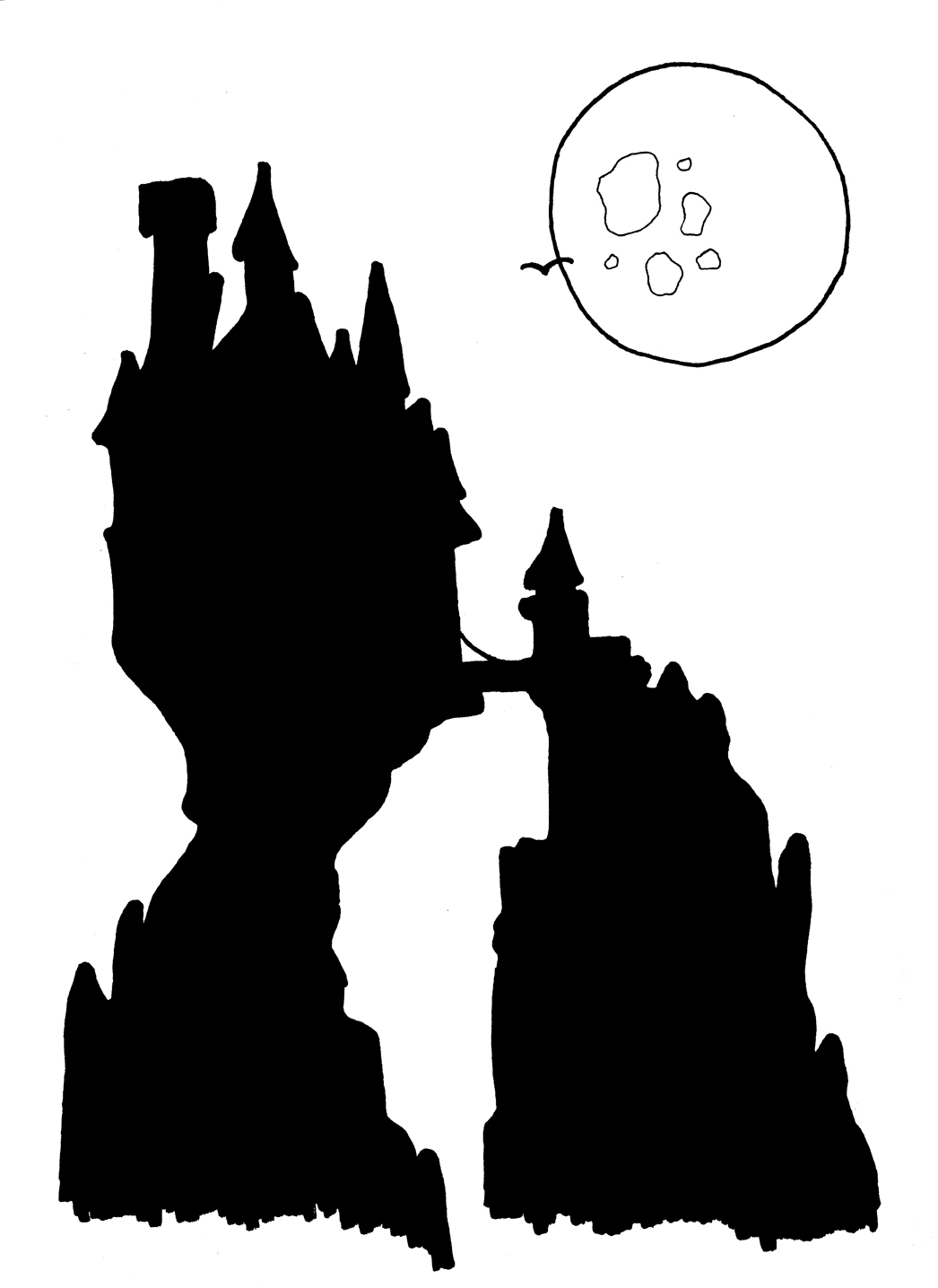 1046x1435 Drawn Castle Maleficent