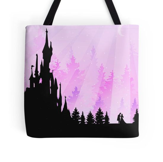 550x547 Sleeping Castle' Tote Bag By Smagifts Sleeping Beauty Castle