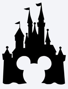 230x300 Custom Vinyl Decal Run Castle Mickey Icon Cinderella Sleeping